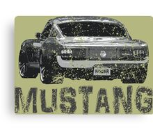 Mustang Muscle Car Canvas Print