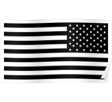 American Flag, ARMY, REVERSE FLAG, Stars & Stripes, US, USA, America, Black on white Poster