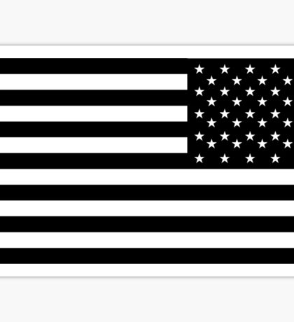 American Flag, ARMY, REVERSE FLAG, Stars & Stripes, US, USA, America, Black on white Sticker