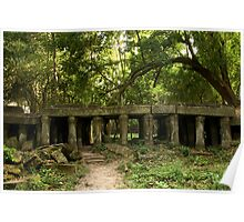 Ancient Ruins in the Jungle Poster