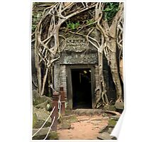 Entrance to the Ta Prohm Temple in Cambodia Poster