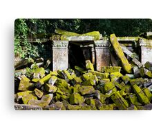 Ancient Temple Ruins in Cambodia Canvas Print