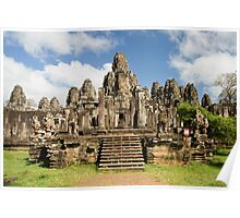 Bayon Temple in Cambodia Poster
