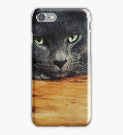 Russian Blue cat iPhone Case/Skin
