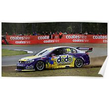 Dean Fiore Running It Wide At The V8 Supercars Poster