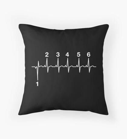 Motorcycle Heartbeat Gear Shift Throw Pillow