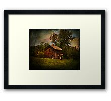 Pucky Huddle Farmhand House Framed Print