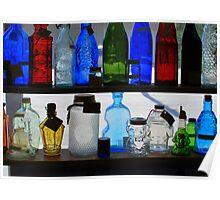 Glass bottles Poster