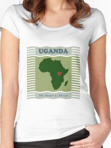Uganda Heart of Africa Women's Fitted Scoop T-Shirt