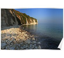 The Stunning Beach and White Cliffs at Danes Dyke - Flamborough Poster