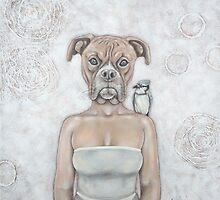 La femme chien - The dog woman by Caroline Houde