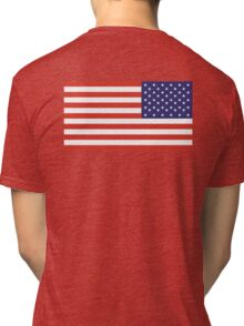 American Flag, ARMY, REVERSE FLAG, Stars & Stripes, Pure & Simple, America, US, USA Tri-blend T-Shirt