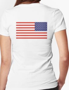 American Flag, ARMY, REVERSE FLAG, Stars & Stripes, Pure & Simple, America, US, USA Womens Fitted T-Shirt