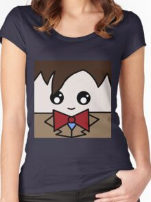 Dr Who 11th Doctor Squ'ed Women's Fitted Scoop T-Shirt