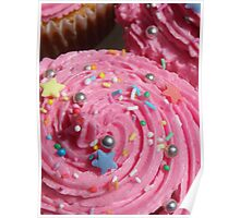 Really pink cupcakes!  Poster