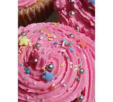 Really pink cupcakes!  Photographic Print