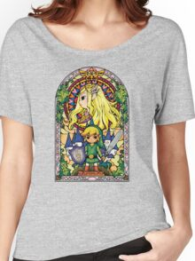 Link and Zelda Stained Glass Women's Relaxed Fit T-Shirt