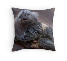 Baby Marmoset Throw Pillow