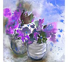 Symphony in Blue and Purple Photographic Print