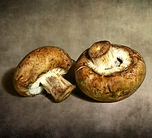 Pair of Mushrooms by Randall Nyhof