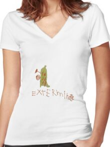 Pirate Dalek Women's Fitted V-Neck T-Shirt