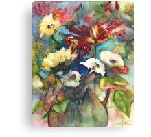 Bouquet in A Jar Canvas Print
