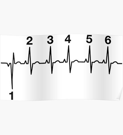 Motorcycle Heartbeat Gear Shift Poster