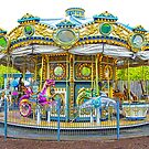 Carousel Ride in Pittsburgh Pennsylvania by Randall Nyhof