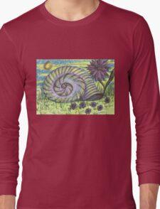 Snail Shell and Flower Long Sleeve T-Shirt