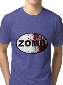 OutRunning Zombies Tri-blend T-Shirt