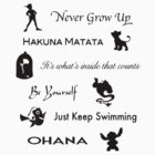 Disney lessons learned (Black) by ashleykathrine