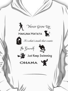 Disney lessons learned (Black) T-Shirt