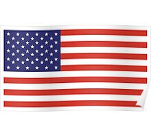 American Flag, LEFT BREAST, Over the Heart, Stars & Stripes, Pure & Simple, America, USA Poster