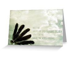 where the sky touches the sea Greeting Card