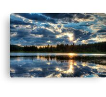 Clearing Storm Over Spooner Lake Canvas Print