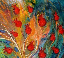 Original painting fragment 11 by Elena Kotliarker