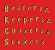 Beaters & Keepers & Chasers & Seekers Kids Tee