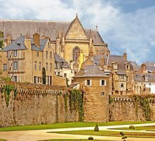 Remparts and City Skyline of Vannes - Morbihan France by Buckwhite
