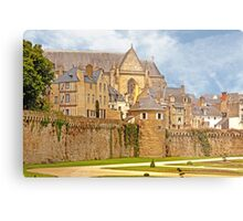 Remparts and City Skyline of Vannes - Morbihan France Metal Print