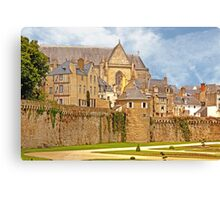Remparts and City Skyline of Vannes - Morbihan France Canvas Print