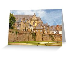 Remparts and City Skyline of Vannes - Morbihan France Greeting Card