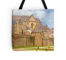 Remparts and City Skyline of Vannes - Morbihan France Tote Bag