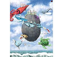 Floating Castle and Flying Fish Photographic Print