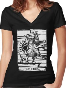 The Fool - Tarot Cards - Major Arcana Women's Fitted V-Neck T-Shirt