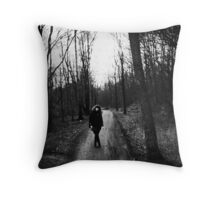 girl in the Woods. Throw Pillow