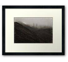 Long Distance Love Affair Framed Print