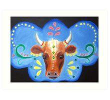 Bollywood Cow Art Print