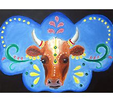 Bollywood Cow Photographic Print