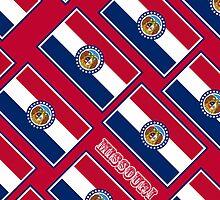 Smartphone Case - State Flag of Missouri - Diagonal I by Mark Podger