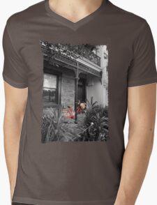 Red Bike Mens V-Neck T-Shirt